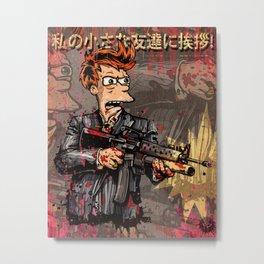 Fryface Metal Print