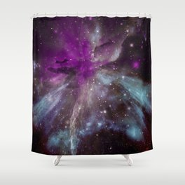 Creation of a Pink Nebula Shower Curtain