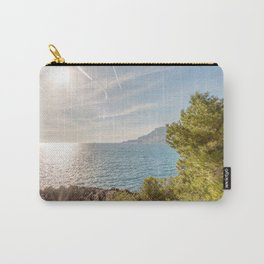 Sunlight reflected on the sea of Cap Martin in a sunny winter day Carry-All Pouch