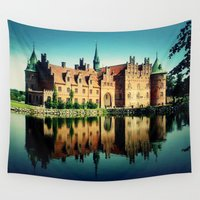 castle Wall Tapestries featuring Castle by EclipseLio