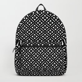Nordic Edelweiss in Black and White Backpack