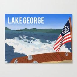 Hacker on Lake George Canvas Print