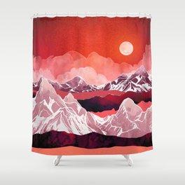 Scarlet Glow Shower Curtain
