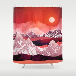 Scarlet Glow Shower Curtain