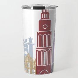 Groningen skyline poster Travel Mug