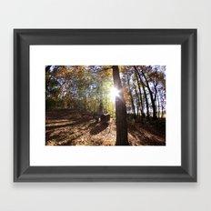 Autumn in the Backyard Framed Art Print
