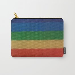 Rainbow Weaved Stripes Carry-All Pouch