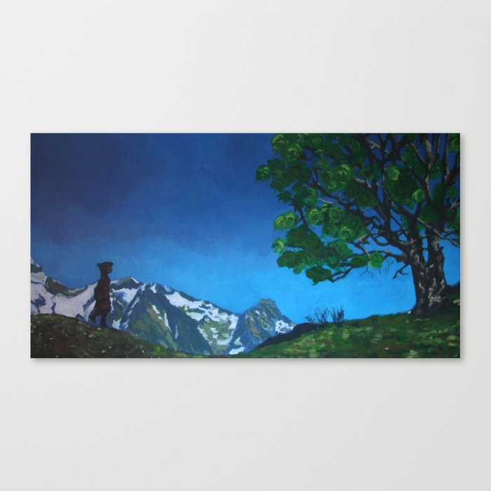 CHILD IN THE MOUNTAIN Canvas Print