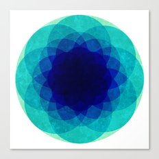psychedelic flower [Circle Week] Canvas Print