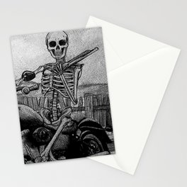 Skeleton Fat Boy Stationery Cards