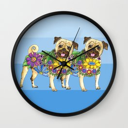 Pug Pals Wall Clock