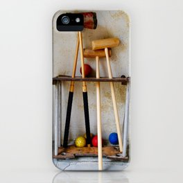 Anyone For Croquet? iPhone Case