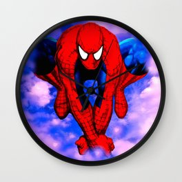 From Spider To Man To Spider Wall Clock