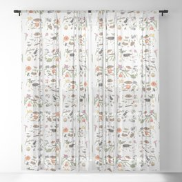 Common place miracles -Natural History Part 1 Sheer Curtain