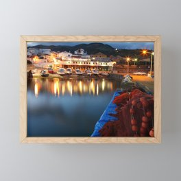 Colorful harbour Framed Mini Art Print