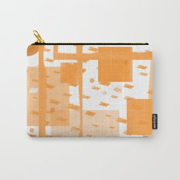 Orange Geometric Abstract Carry-All Pouch