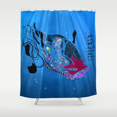 John 8/44+TheFish Nonrandom-art2 Shower Curtain