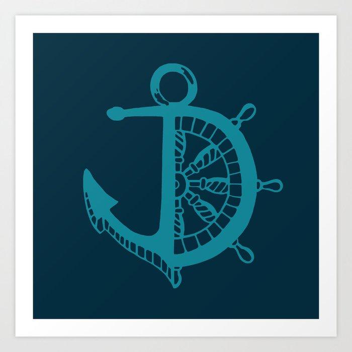 Anchor Helm Art Print