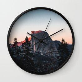 Last Light at Yosemite National Park Wall Clock