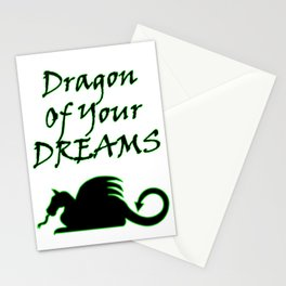 Dragon Of Your Dreams (Black) Stationery Cards