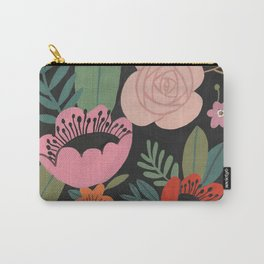 Floral Guache Carry-All Pouch