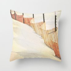 Snowfence Throw Pillow