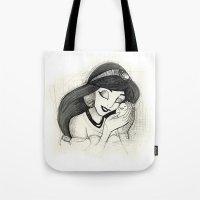 jasmine Tote Bags featuring Jasmine by Herself