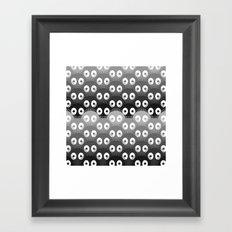 susuwatari pattern Framed Art Print
