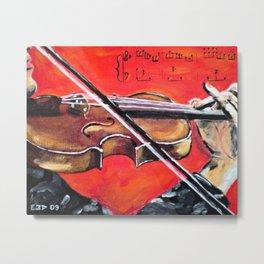 Homage to the Violin Metal Print