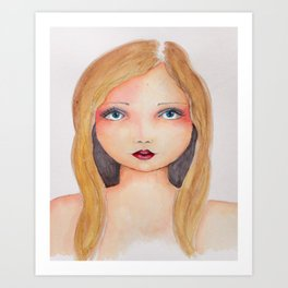 Bella SASS Girlz - Brandi - SASS = STRONG and SUPER SMART Art Print