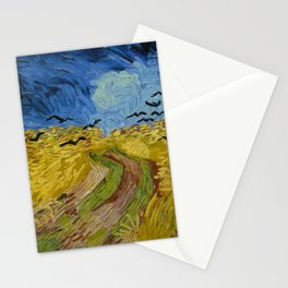 Wheatfield with Crows Painting by Vincent van Gogh Stationery Cards