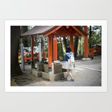 Shrine Syojo Art Print