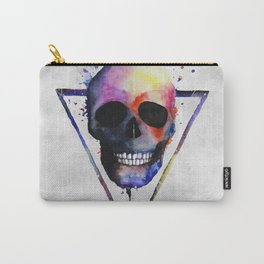 Watercolor Skull Carry-All Pouch