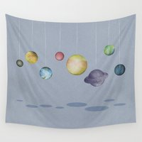 stanley kubrick Wall Tapestries featuring The Solar System by J Arell