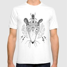 satan´s rat White Mens Fitted Tee LARGE