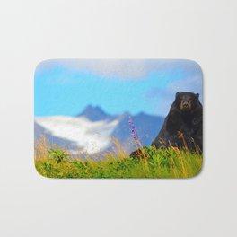 Alaskan Black Bear Bath Mat