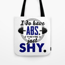 Shy Abs Fitness Workout Gym Training Design Tote Bag