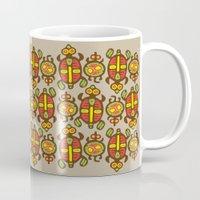 turtles Mugs featuring Turtles by Olya Yang