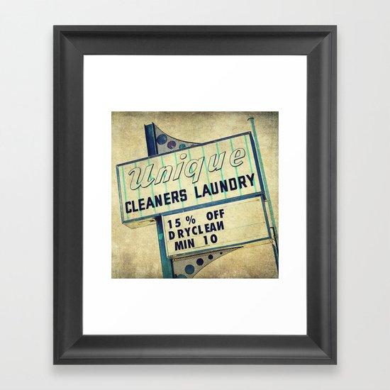 Unique Laundry Sign Framed Art Print