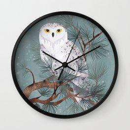 Snowy Wall Clock