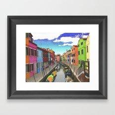 Village colors Framed Art Print
