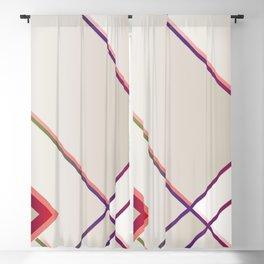 Rainbow Grids Blackout Curtain