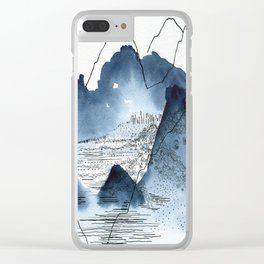 Love of mountains landscape format Clear iPhone Case