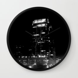 Nashville Nights - Downtown building Wall Clock