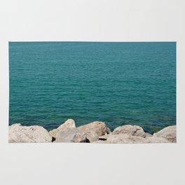 The calming beach view Rug
