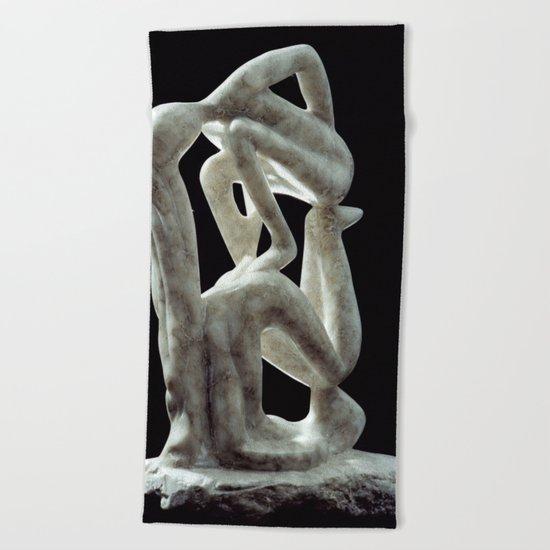 Amnon and Tamar by Shimon Drory Beach Towel