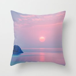 Calm sunrise Throw Pillow