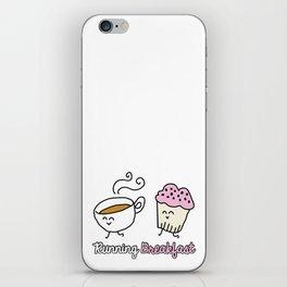 Running Breakfast iPhone Skin