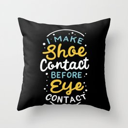 Sneaker collecting Footwear Shoes Eye Contact Throw Pillow