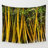 bamboo Wall Tapestries featuring Bamboo by John Lyman Photos